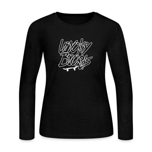 Loyalty Boards White Font With Board - Women's Long Sleeve Jersey T-Shirt