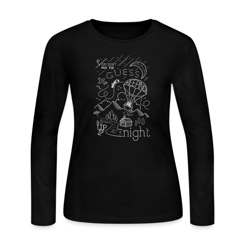 Up at Night Design - Women's Long Sleeve Jersey T-Shirt