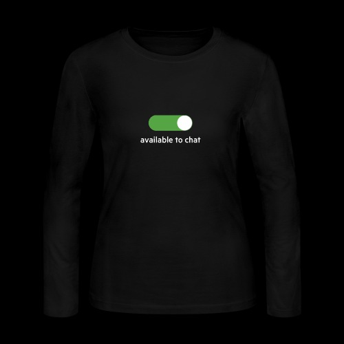 Available to chat Icon Printed Collection - Women's Long Sleeve Jersey T-Shirt