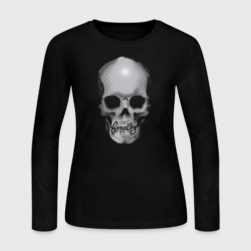 Finally Skull - Women's Long Sleeve Jersey T-Shirt