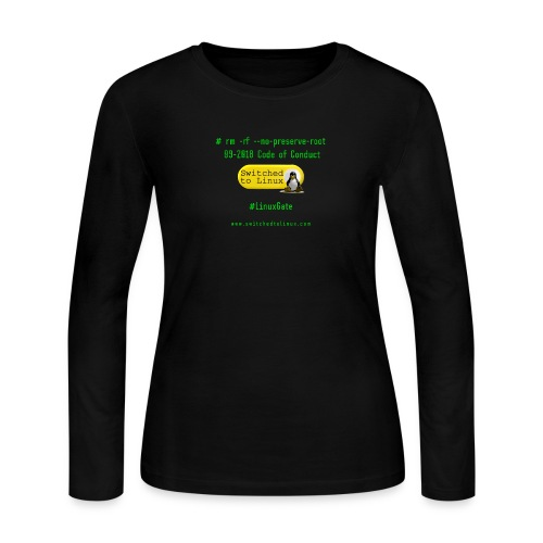 rm Linux Code of Conduct - Women's Long Sleeve Jersey T-Shirt