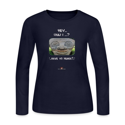 The Hey Could I have Yo Number Alien - Women's Long Sleeve Jersey T-Shirt