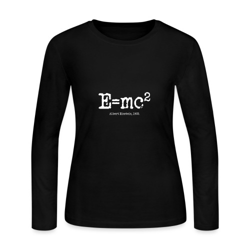 E=mc2 - Women's Long Sleeve Jersey T-Shirt