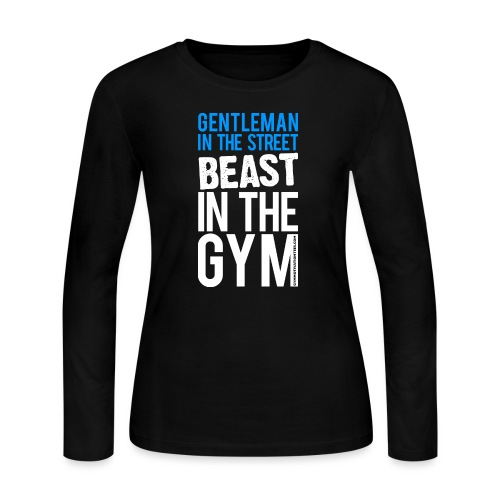 Beast in the Gym - Gym Motivation - Women's Long Sleeve Jersey T-Shirt