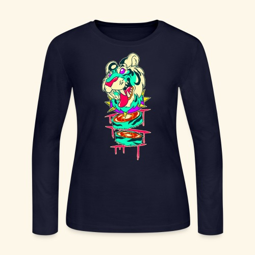 - Decaptiger - - Women's Long Sleeve Jersey T-Shirt