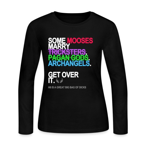 some mooses marry gods black shirt - Women's Long Sleeve Jersey T-Shirt