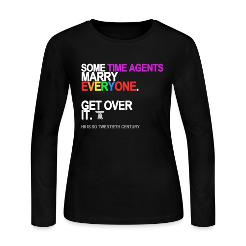 some time agents marry everyone black sh - Women's Long Sleeve Jersey T-Shirt