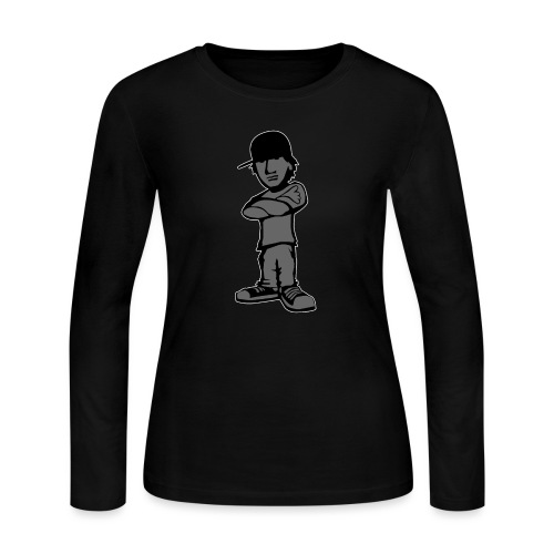 Kid with Attitude - Women's Long Sleeve Jersey T-Shirt