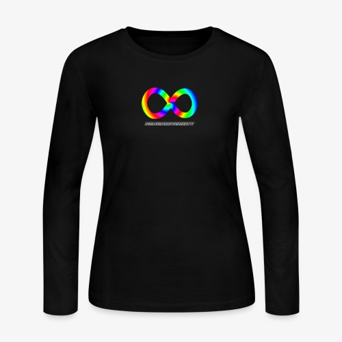 Neurodiversity with Rainbow swirl - Women's Long Sleeve Jersey T-Shirt