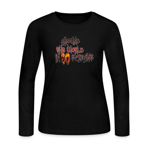 Around The World in 80 Screams - Women's Long Sleeve Jersey T-Shirt