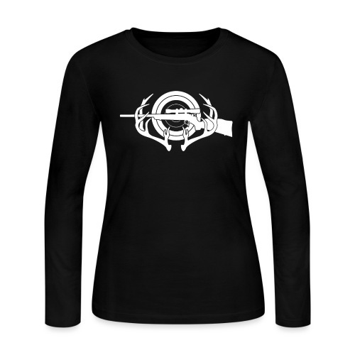Hunting and Shooting Sports Iogo - Women's Long Sleeve Jersey T-Shirt