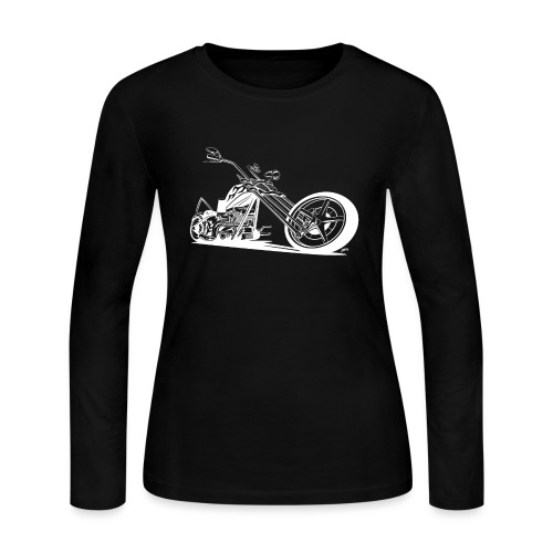 Custom American Chopper Motorcycle - Women's Long Sleeve Jersey T-Shirt