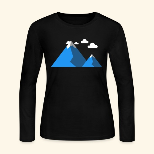 Mountains - Women's Long Sleeve Jersey T-Shirt