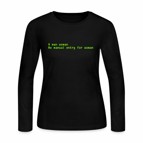 man woman. No manual entry for woman - Women's Long Sleeve Jersey T-Shirt