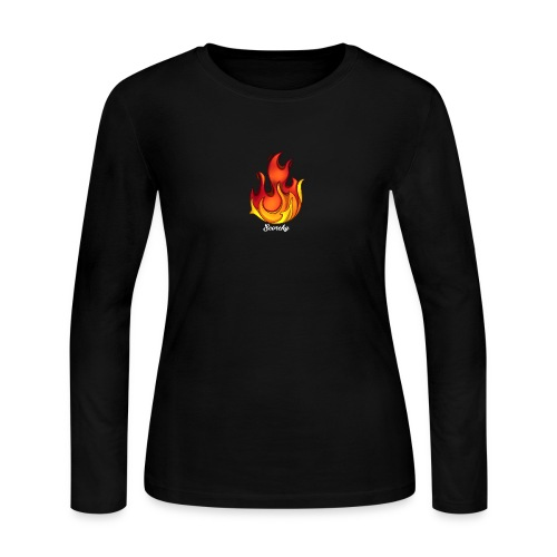 Scorchy White Logo - Women's Long Sleeve Jersey T-Shirt