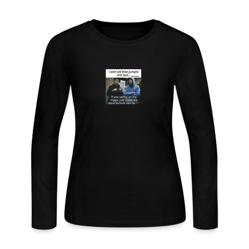 Friends down for friends - Women's Long Sleeve Jersey T-Shirt