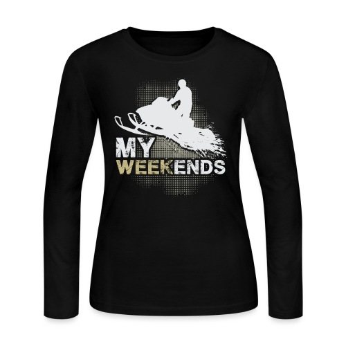 Snowmobile My Weekends - Women's Long Sleeve Jersey T-Shirt