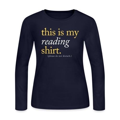 This is My Reading Shirt - Women's Long Sleeve Jersey T-Shirt