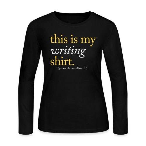 This is My Writing Shirt - Women's Long Sleeve Jersey T-Shirt