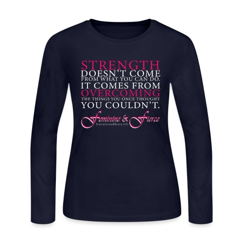 Strength Doesn't Come from - Feminine and Fierce - Women's Long Sleeve Jersey T-Shirt