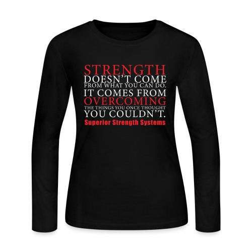 Strength Doesn t Come from - Women's Long Sleeve Jersey T-Shirt