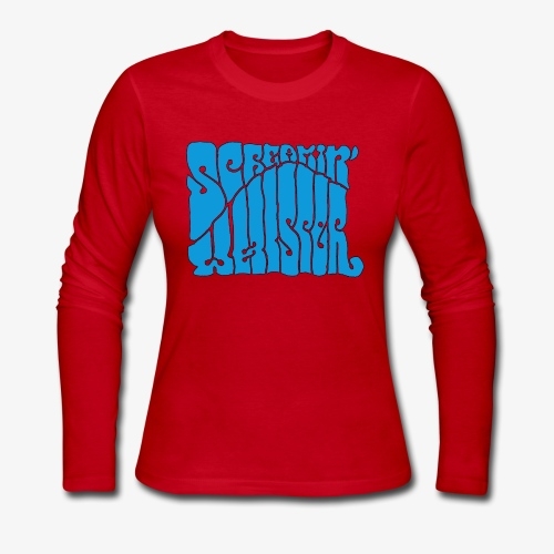 Screamin' Whisper Retro Logo - Women's Long Sleeve Jersey T-Shirt