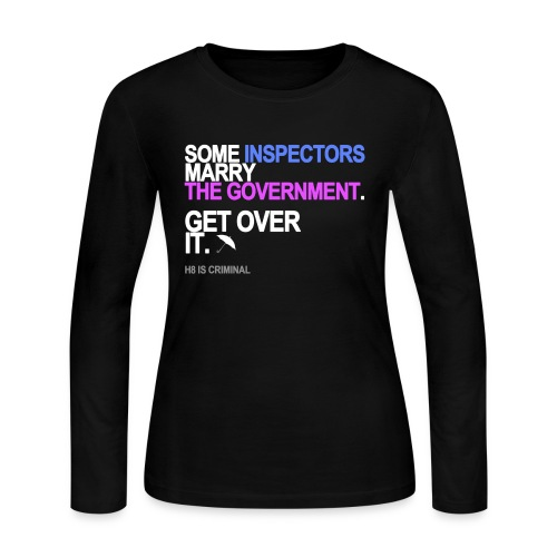 some inspectors marry the government bla - Women's Long Sleeve Jersey T-Shirt