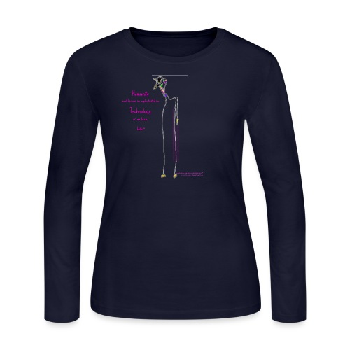 BttrflyWalksGiraf©C.Lili™ - Women's Long Sleeve Jersey T-Shirt