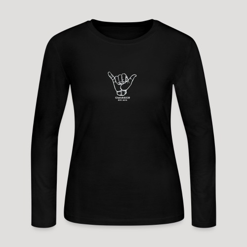 Grey Shaka for Black Clothing - Women's Long Sleeve Jersey T-Shirt