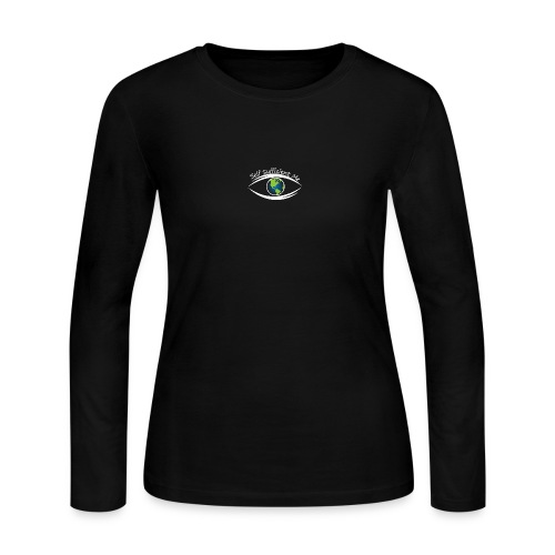 Self Sufficient Me Logo white small coy design - Women's Long Sleeve Jersey T-Shirt