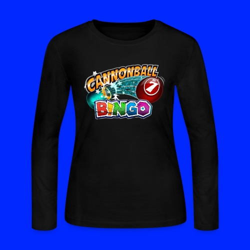 Vintage Cannonball Bingo Logo - Women's Long Sleeve Jersey T-Shirt
