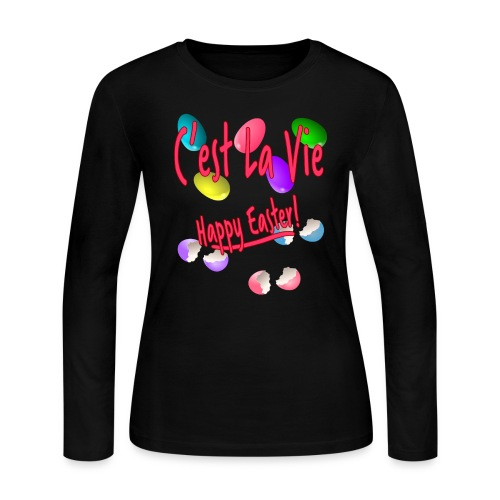 C'est La Vie, Easter Broken Eggs, Cest la vie - Women's Long Sleeve Jersey T-Shirt