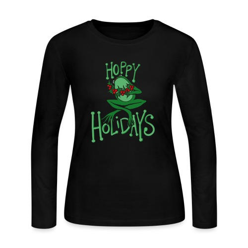 Hoppy Holidays - Women's Long Sleeve Jersey T-Shirt