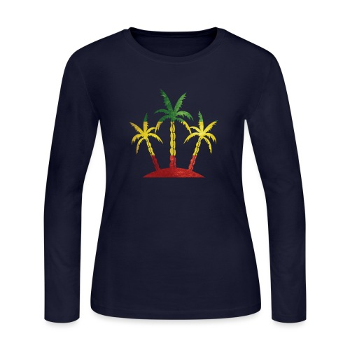 Palm Tree Reggae - Women's Long Sleeve Jersey T-Shirt