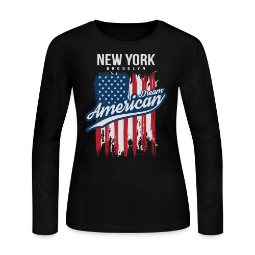 nyc new york brooklyn - Women's Long Sleeve Jersey T-Shirt