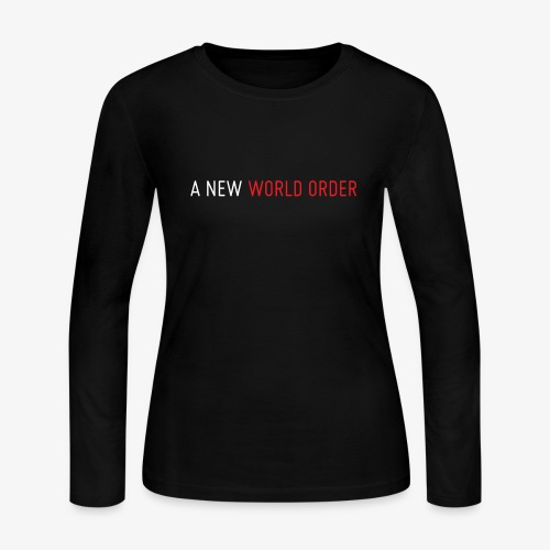 A New World Order Logo - Women's Long Sleeve Jersey T-Shirt