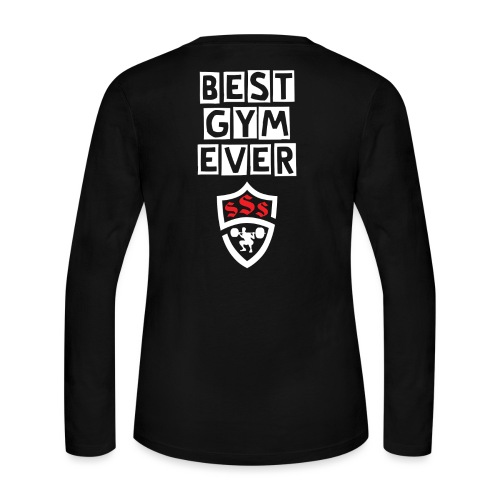 Best Gym Ever White and Red - Women's Long Sleeve Jersey T-Shirt