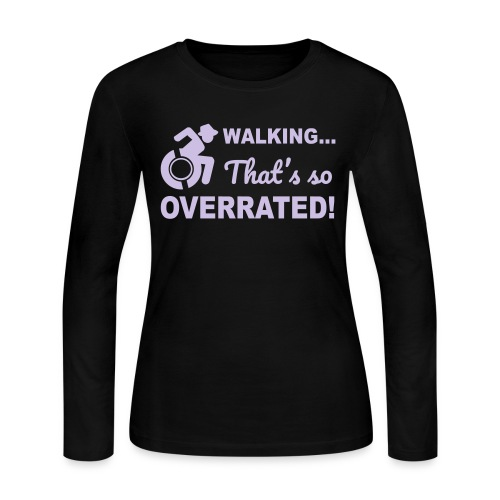 Walking that's so overrated for wheelchair users - Women's Long Sleeve Jersey T-Shirt