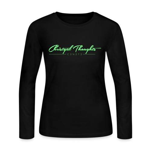Christyal Thoughts C3N3T31 Lime png - Women's Long Sleeve Jersey T-Shirt