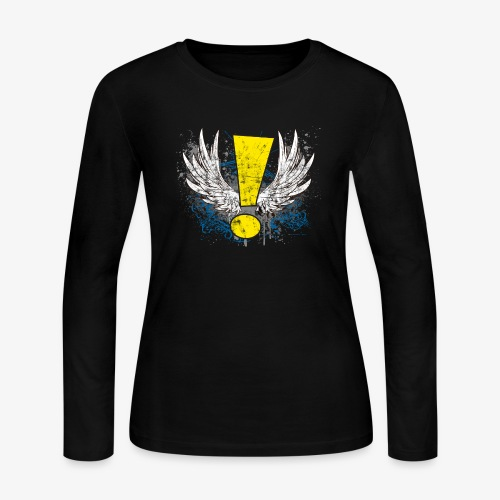 Winged Whee! Exclamation Point - Women's Long Sleeve T-Shirt