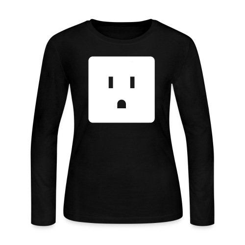 Funny Halloween Couples Costume Wall Outlet Female - Women's Long Sleeve T-Shirt