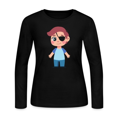 Boy with eye patch - Women's Long Sleeve Jersey T-Shirt