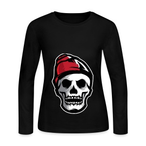 Custom Skull With Ice Cap Merch! - Women's Long Sleeve Jersey T-Shirt