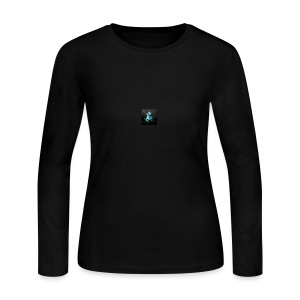 abstract blue dragons blue dragon logos amd 2560x1 - Women's Long Sleeve Jersey T-Shirt