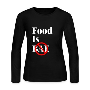 Food Is Bae - White - Women's Long Sleeve Jersey T-Shirt