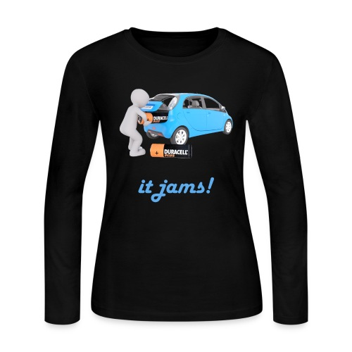Limited Edition! E-car   Technic Style - Women's Long Sleeve Jersey T-Shirt