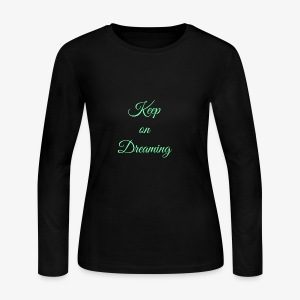 Keep on Dreaming in mint - Women's Long Sleeve Jersey T-Shirt
