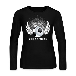 Play with Passion Schulz Academy white - Women's Long Sleeve Jersey T-Shirt