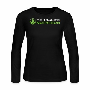 White and Green HL Logo - Women's Long Sleeve Jersey T-Shirt