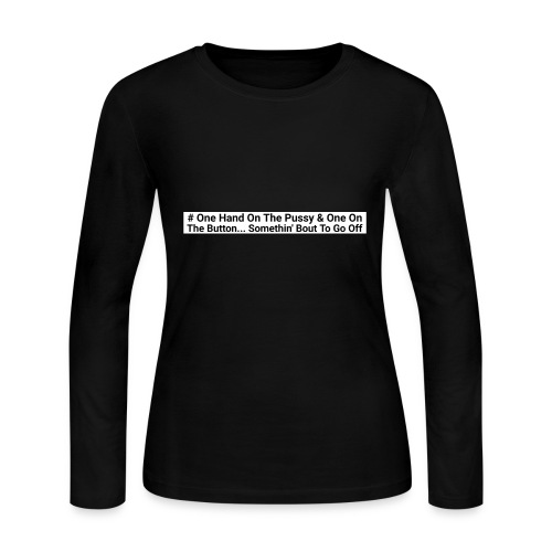 One hand on the button - Women's Long Sleeve Jersey T-Shirt
